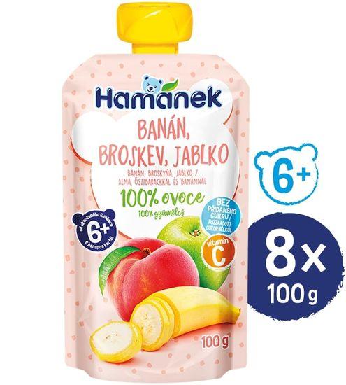 Hamánek Broskyňa banán 8x 100g