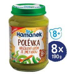 Hamánek Polievka hráškový krém so smotanou 8x 190 g