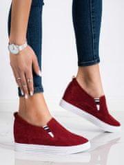 Nőitornacipő 70700 + Nőin zokni Gatta Calzino Strech, piros árnyalat, 39