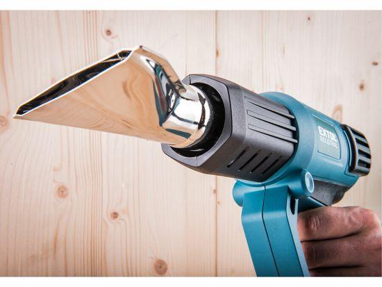 Extol Industrial pistole horkovzdušná s plynulou regulací teploty a proudu vzduchu, 2000W