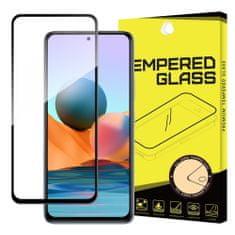 MG Full Glue Super Tough zaščitno steklo za Xiaomi Redmi Note 10 / Redmi Note 10S, črna