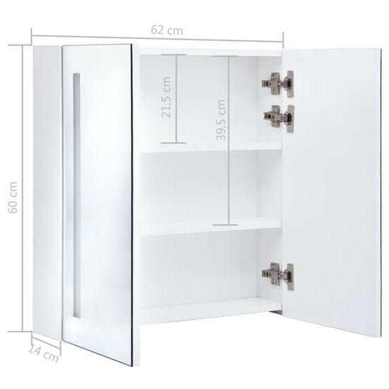 Vidaxl LED koupelnová zrcadlová skříňka 62 x 14 x 60 cm