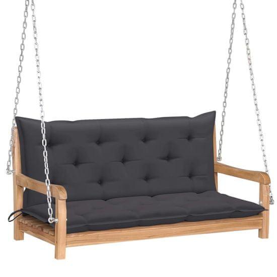 shumee Hojdacia lavička s antracitovým vankúšom 120 cm teakový masív