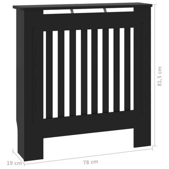 shumee Pokrov hladilnika MDF Črna 78 cm