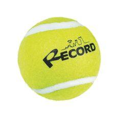 RECORD Fun teniška žogica za pse, guma/filc, 6,4 cm, rumena
