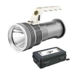 ENTAC ALU ročna svetilka IP65 5W 2x18650 s polnilnikom