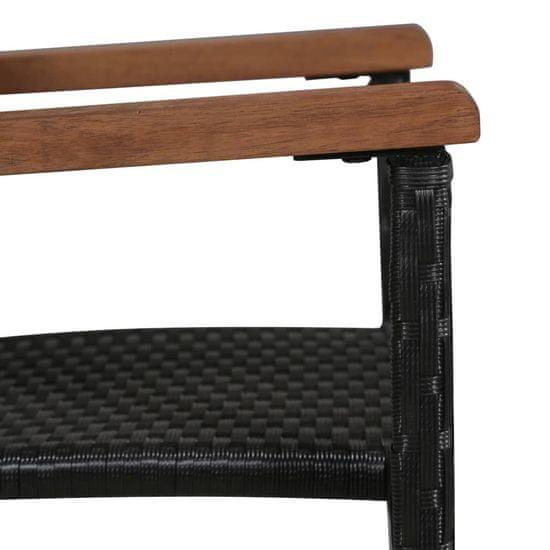 shumee 5-częściowy zestaw mebli ogrodowych, czarny