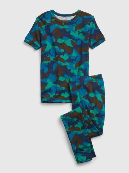 Gap Otroške Pižama organic cotton shark camo print pj set