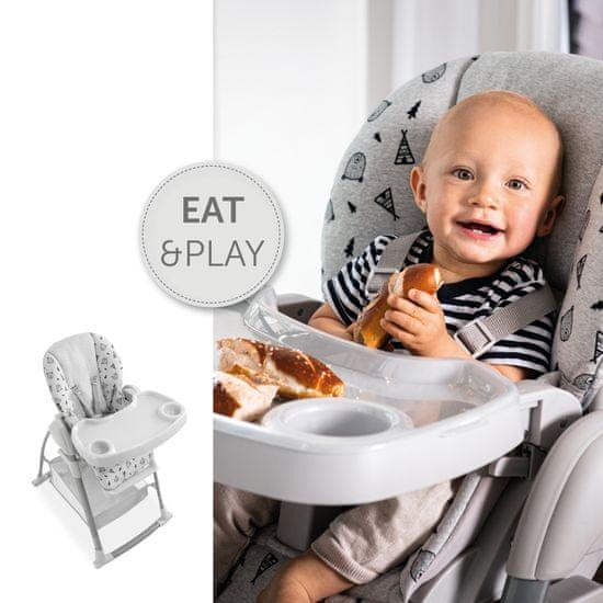 Hauck Sit´n Relax 3v1 2021 otroški ležalnik, Nordic Grey