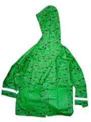 KUGO Chlapecká zelená pláštenka s dinosaury Vel:122/128