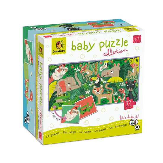 Ludattica Oboustranné puzzle pro nejmenší - Ludattica - Zvířátka z džungle - 32 dílů