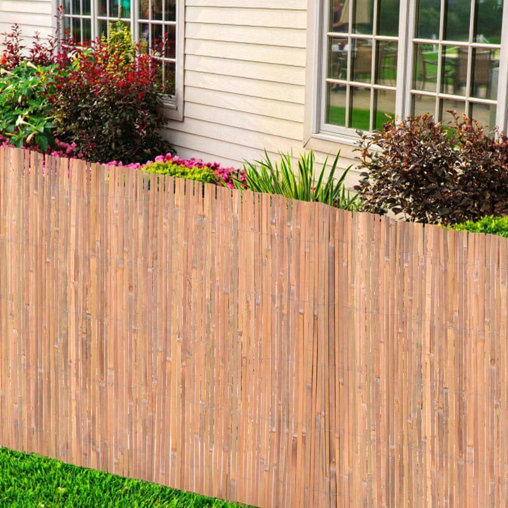 shumee Bambusový plot 125x600 cm