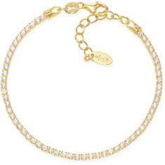 Amen Aranyozott ezüst karkötő cirkónium kövekkel Tennis BTGB16