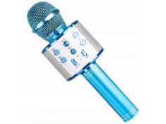 Karaoke bluetooth mikrofon s reproduktorem, MODRÁ E-227-MO