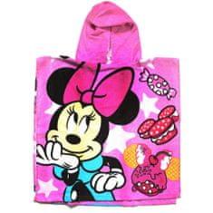 """SETINO Dětská bavlněné pončo osuška s kapucí """"Minnie Mouse"""" - růžová"""