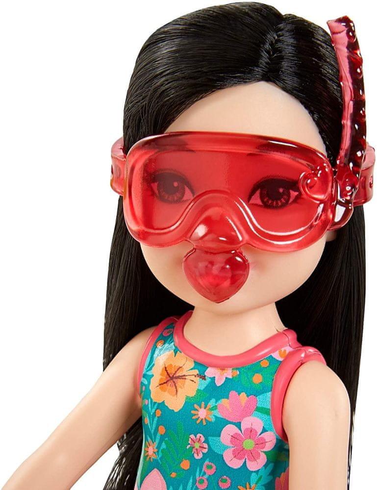 Mattel Barbie Chelsea s doplňky na pláž kruh se zebrou