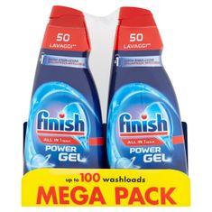 Finish żel do zmywarki All in 1 Max Shine & Protect, 2 × 1000 ml