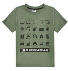 WINKIKI chlapecké tričko WTB01772-140 140 khaki
