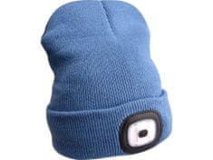 Extol Light čepice s čelovkou 45lm, nabíjecí, USB, modrá