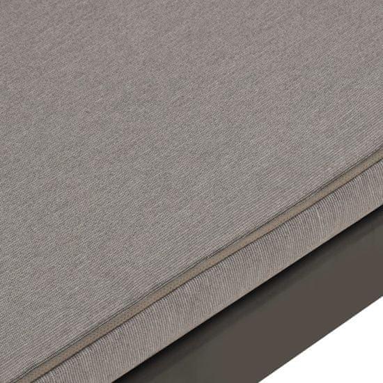 shumee 4-dielna záhradná sedacia súprava s podložkami plastová sivá