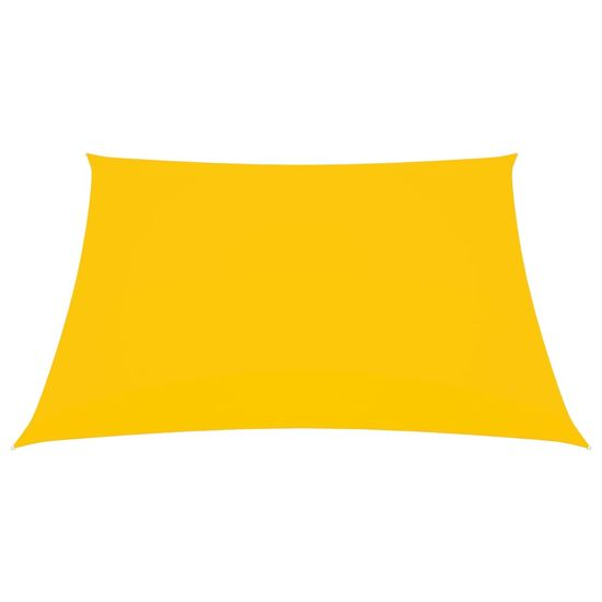 shumee sárga téglalap alakú oxford-szövet napvitorla 2,5x4 m