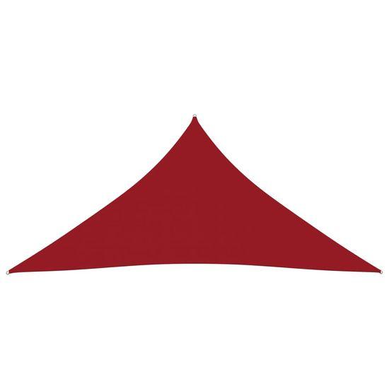 shumee piros háromszögű oxford-szövet napvitorla 4 x 4 x 4 m