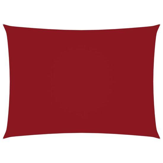 Greatstore Tieniaca plachta oxfordská látka obdĺžniková 4x6 m červená