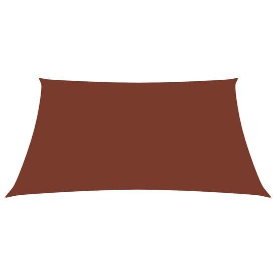 shumee Záhradná plachta Oxford Látkový obdĺžnik 3,5x4,5 m Terakota