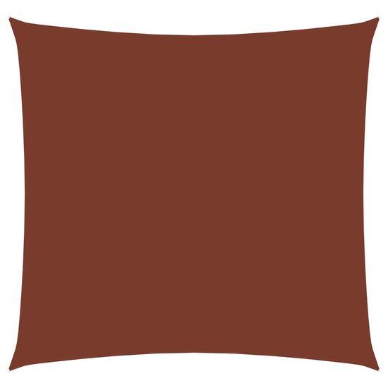 shumee Żagiel ogrodowy, tkanina Oxford, kwadratowy, 5x5 m, terakota