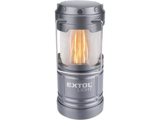 Extol Light lucerna teleskopická LED, 75lm/plamen