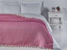Denizli Concept Cienka narzuta na łóżko BALIKSIRTI kolor fuksja 200x240 cm.