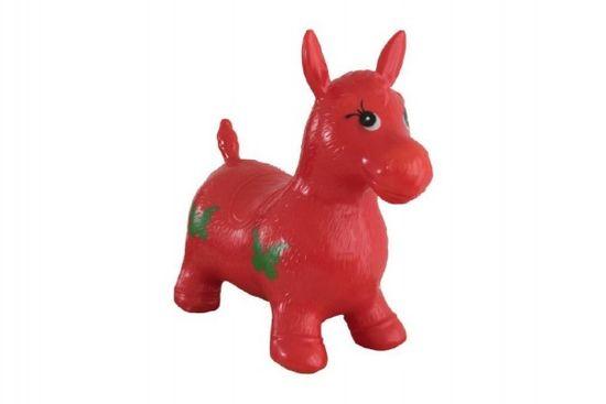 Teddies Hopsadlo kůň skákací gumový červený