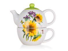 Banquet Sunflower čajnik s skodelico