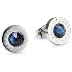 Tommy Hilfiger Ocelové náušnice s modrým krystalem TH2700260