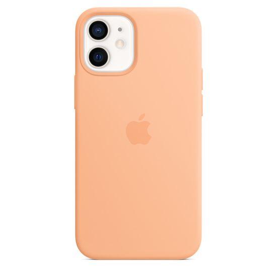 Apple etui ochronne iPhone 12 mini Silicone Case with MagSafe (Cantaloupe) MJYW3ZM/A