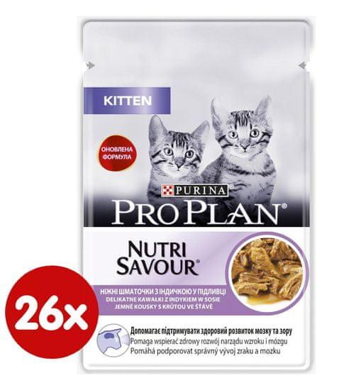 Purina Pro Plan karma mokra dla kotów Cat JUNIOR z indykiem w sosie 26x 85 g
