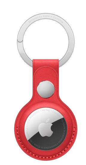 Apple AirTag Leather Key Ring - (PRODUCT) RED MK103ZM/A