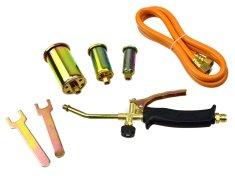 GEKO Plynový hořák, 3 koncovky, 25, 35, 50mm, hadice 1,5m
