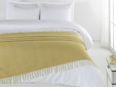 Denizli Concept Cienka narzuta na łóżko ROMBY kolor musztardowy 200x240 cm.