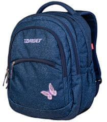 Target 2 u 1 Curved ruksak, Denim Butterfly (26941)