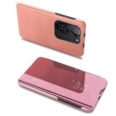 MG Clear View knjižni ovitek za Xiaomi Redmi K40 / Poco F3, roza