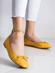 Női balerina cipő 70956, sárga és arany árnyalat, 36