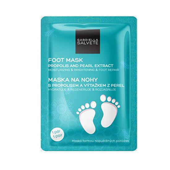 Gabriella Salvete Maska na nohy Propolis & Pearl Extrakt (Moisturising & Brightening Foot Mask) 1 pár