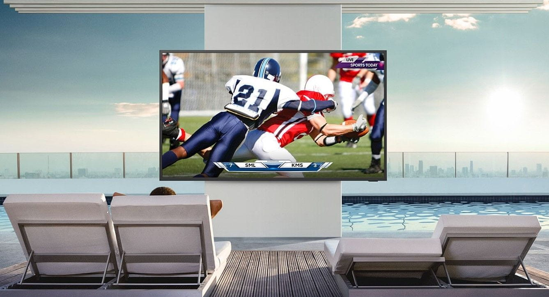 samsung terrace tv kültéri televízió qled 4K 2021 magas fényerő
