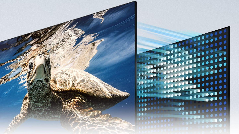 samsung terrace tv kültéri televízió qled 4K 2021 fényvisszaverő réteg