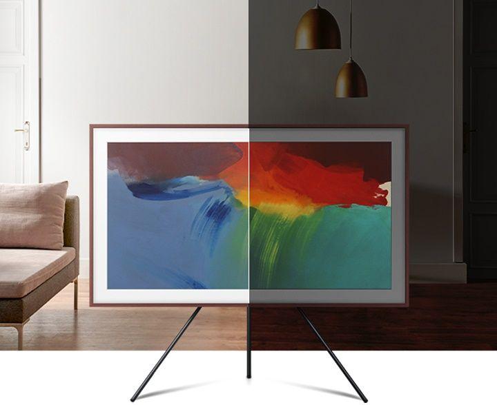 samsung frame tv televízió edge led 4K 2021 az intelligens mozgásérzékelő energiatakarékos