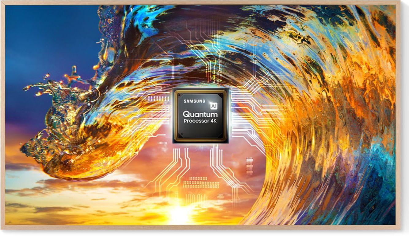samsung frame tv televízió Qled 2021 4K intelligens kvantum processzor mesterséges intelligencia