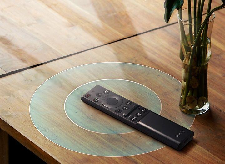 samsung tv televízió edge led 2021 4K intelligens egy távirányító szolár töltés