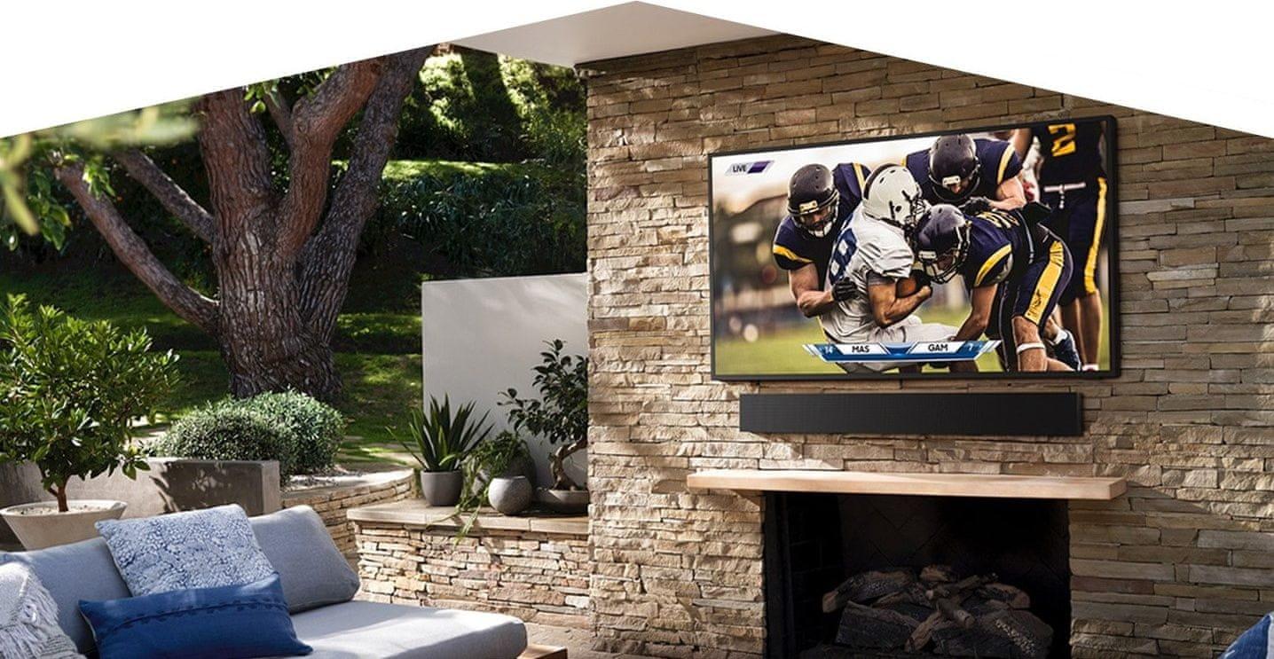 samsung terrace tv kültéri televízió qled 4K 2021
