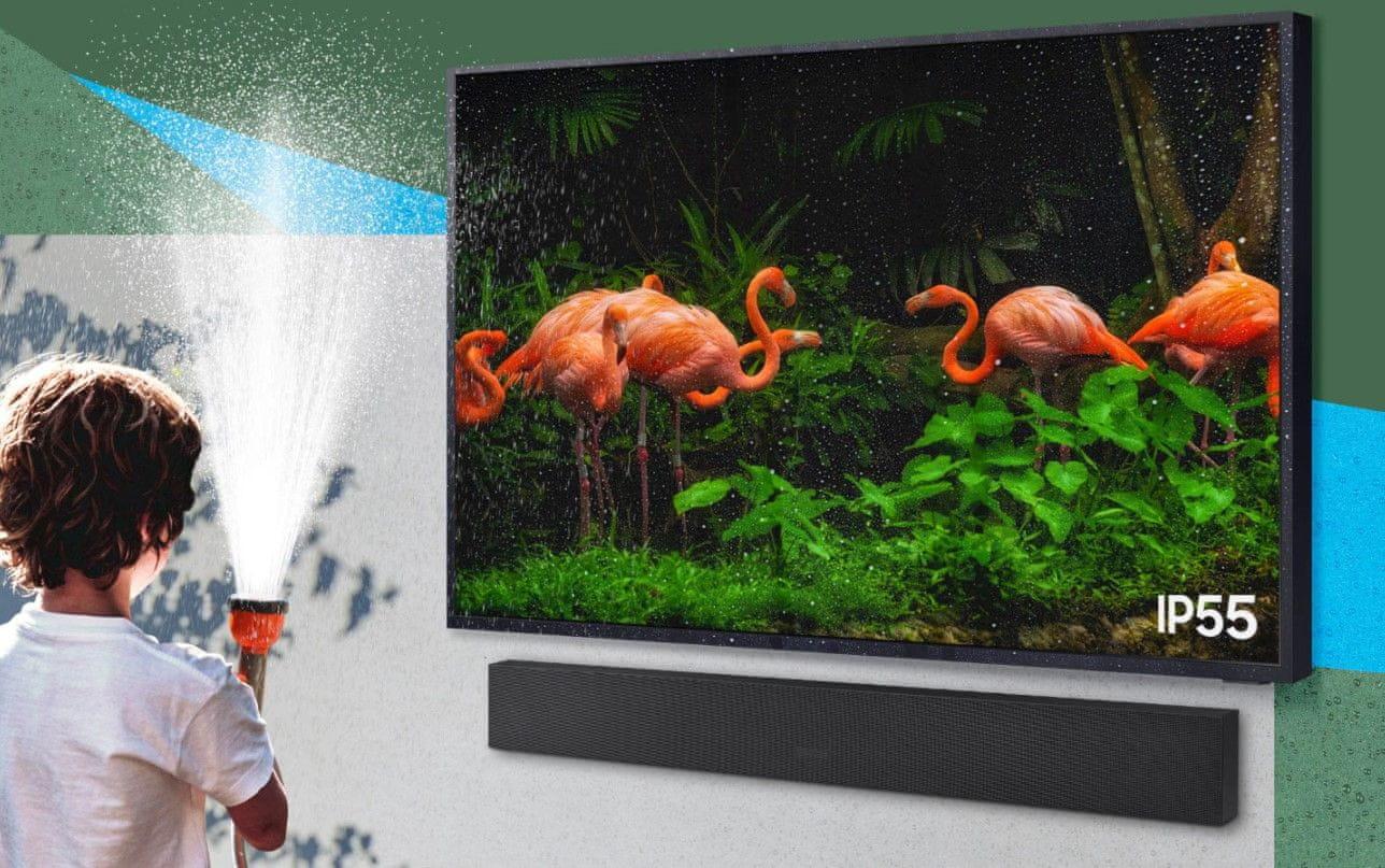 samsung terrace tv kültéri televízió qled 4K 2021 IP55
